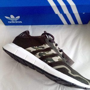 New Adidas Green Earth Grey Sneakers Men's Size 12